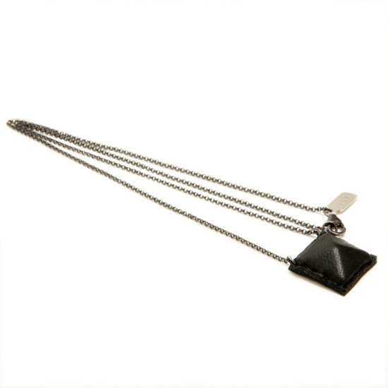 Wendy Nichol Leather Pyramid Necklace
