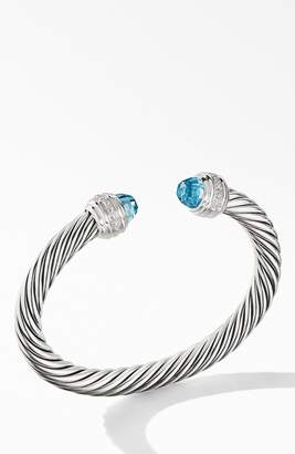 David Yurman Cable Classics Bracelet with Semiprecious Stones & Diamonds, 7mm