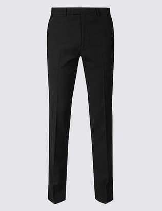 Marks and Spencer Black Textured Slim Fit Trousers