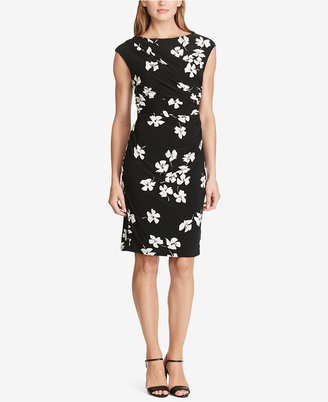 American Living Pleated Floral-Print Sheath Dress $79 thestylecure.com