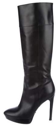 Burberry Knee-High Platform Boots