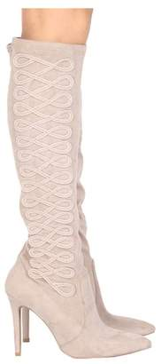 Qupid Milia Embroidered Knee-High Boot