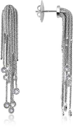 Orlando Orlandini Flirt - Diamond Drops 18K White Gold Earrings