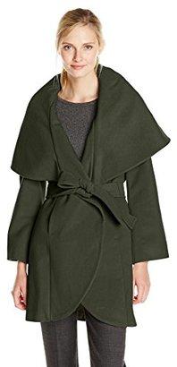 T Tahari Women's Marla Wool Wrap Coat $300 thestylecure.com