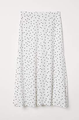 H&M Jacquard-weave Skirt - White