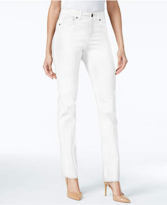 Style&Co. Style & Co Petite Tummy-Control Straight-Leg Jeans