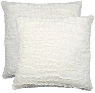 LUXE FAUX FUR 2-Pack Belton Faux Fur Pillow
