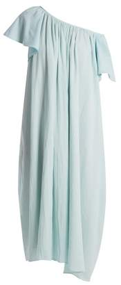 Loup charmant Loup Charmant - Hydrus Off The Shoulder Cotton Dress - Womens - Light Blue