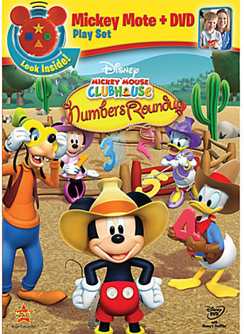 Disney Mickey Mouse Clubhouse: Mickey's Numbers Roundup DVD plus Mote