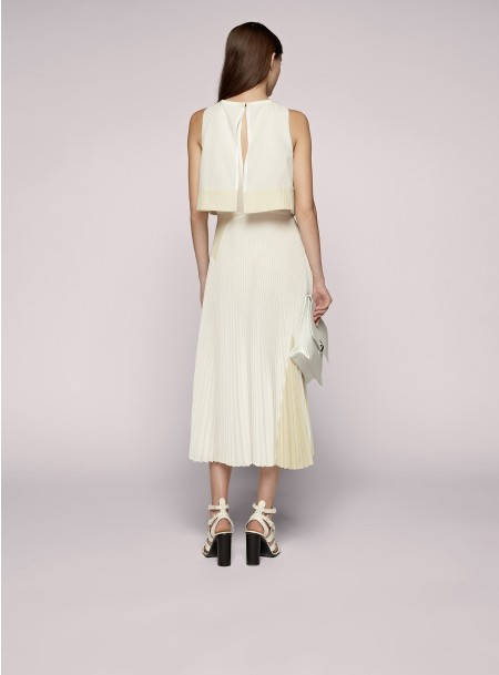 Proenza Schouler Sleeveless Pleated Skirt Dress
