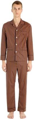70's Style Printed Cotton Poplin Pajamas