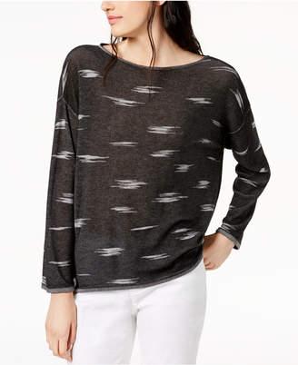 Eileen Fisher Tencel Boat-Neck Sweater