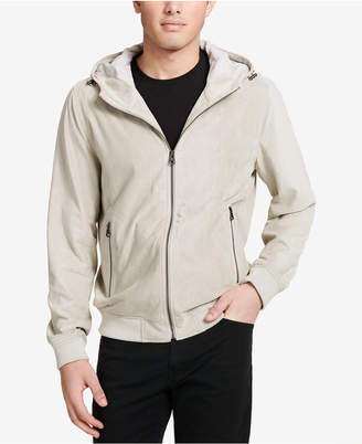 Levi's Men's Perforated Faux-Suede Hoodie