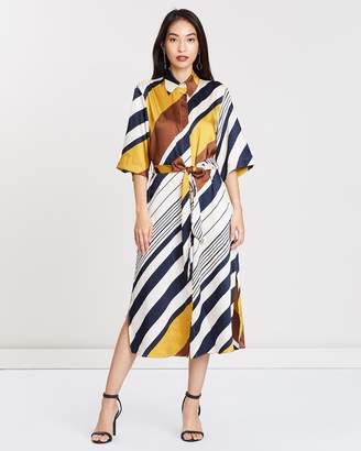 Mng Printed Shirt Dress
