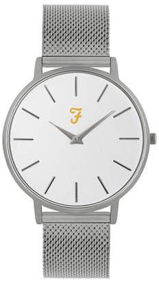 Farah Men the Slim Jim Collection Sliver Stainless Steel Bracelet Watch 42mm
