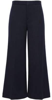 Filippa K Cropped Cotton-blend Jersey Wide-leg Pants