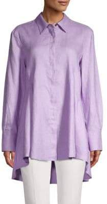 DKNY High-Low Button Up Shirt
