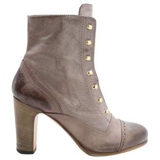 Vanessa Bruno Purple Leather Ankle boots