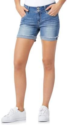 Wallflower Juniors' WallFlower Luscious Curvy Bling Mid-Thigh Shorts