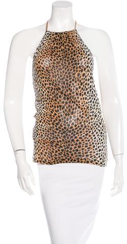 Dolce & GabbanaDolce & Gabbana Printed Halter Top