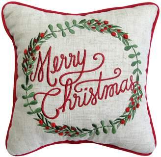 St Nicholas Square ''Merry Christmas'' Mini Pillow