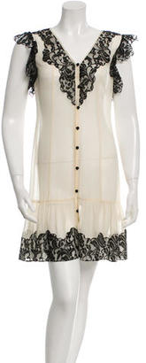 Alice by Temperley Silk Lace-Trimmed Dress $85 thestylecure.com