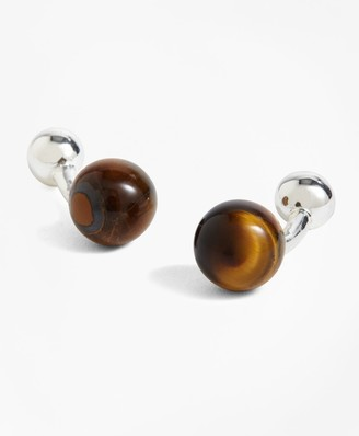 Brooks Brothers Tiger's Eye Cuff Links