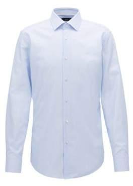 BOSS Hugo Pindot Oxford Dress Shirt, Slim Fit Jesse 14.5 Light Blue