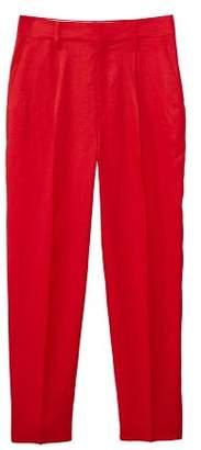 MANGO Linen high-waist trousers