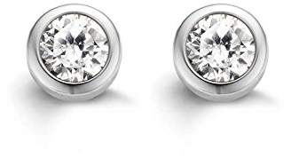 Ti Sento Milano Rhodium Plated Sterling Silver Earrings with Cubic Zirconia Stones-7597ZI