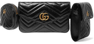 Gucci Gg Marmont Quilted Leather Belt Bag - Black