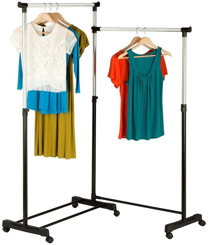 Honey-Can-Do Dual Bar Corner Garment Rack