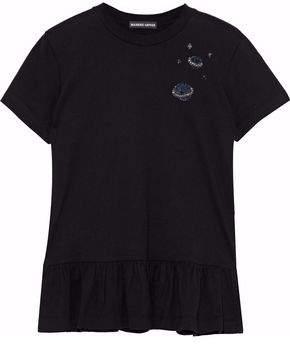 Markus Lupfer Torunn Embellished Cotton-Jersey T-Shirt