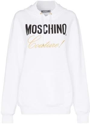 Moschino logo cotton hoodie