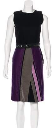 Bottega Veneta Velvet Knee-Length Dress