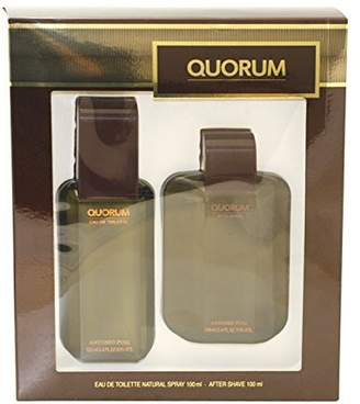 Antonio Puig Quorum By For Men. Set-edt Spray 3.4-Ounce & Aftershave 1.7-Ounce