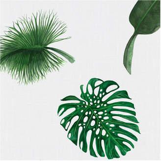 Huddleson Linens Tropical Leaf Linen Napkins (Set of 4)