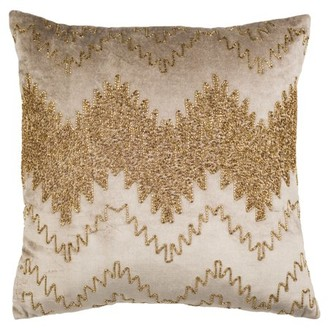 Safavieh Gold Sparkle Striped Pillow