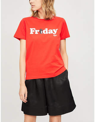 Chocoolate Friday logo-print cotton-jersey T-shirt