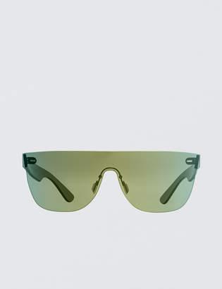 Super By Retrosuperfuture Tuttolente Flat Top Petrol Sunglasses