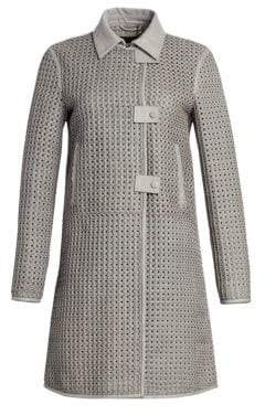 Emporio Armani Woven Lamb Leather Coat