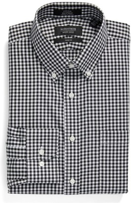 Men's Nordstrom Men's Shop Trim Fit Non-Iron Gingham Dress Shirt $49.50 thestylecure.com