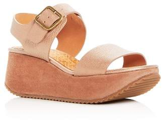 Chie Mihara Women's Devagar Leather & Suede Wedge Platform Sandals - 100% Exclusive