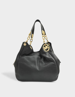 MICHAEL Michael Kors Fulton Hobo Bag in Black Soft Venus