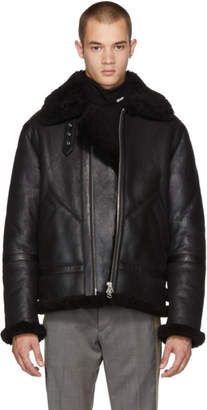 Acne Studios Black Shearling Ian Jacket