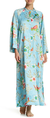 Natori Magnolia Charmeuse Zip Caftan $180 thestylecure.com