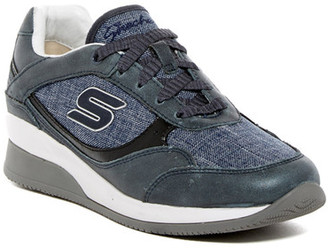 Skechers Vita Luca Wedge Fit Sneaker (Women's) $95 thestylecure.com