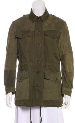 Burberry Leather-Accented Cargo Jacket