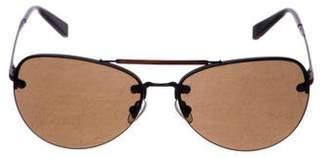 John Varvatos Tinted Aviator Sunglasses