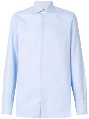 Isaia jacquard pattern shirt